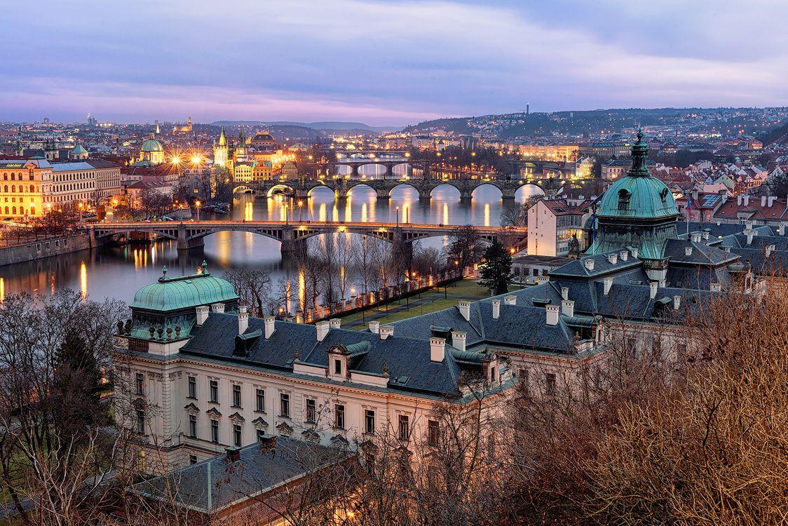 Обои мосты, город, Прага картинки на телефон