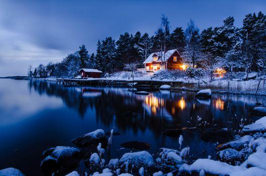 Photo free Sweden, archipelago, Bay