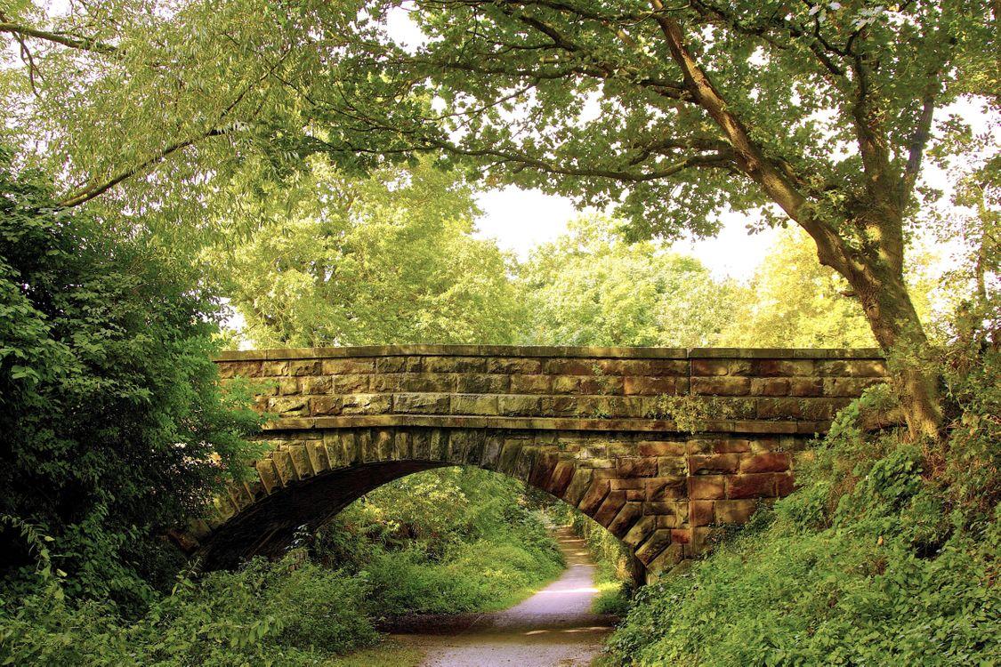 Обои мост, арочный мост, каменная кладка картинки на телефон