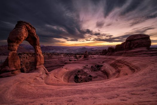 Photo free Delicate Arch, located in Arches national Park, Arches