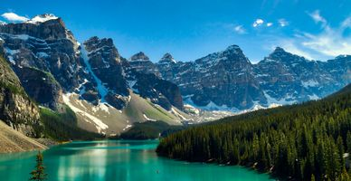 Photo free trees, Lake Moraine, rocks