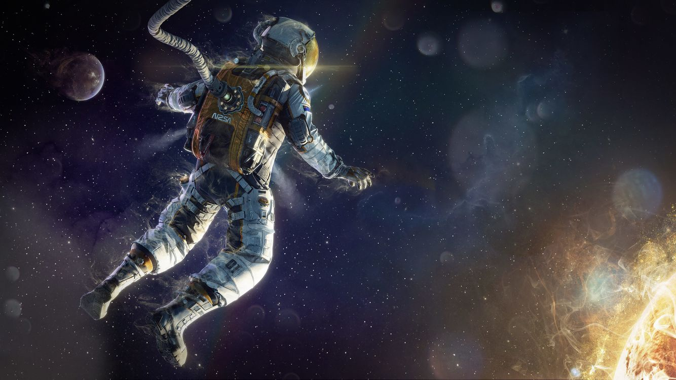 Photos for free astronaut, space, stars - to the desktop