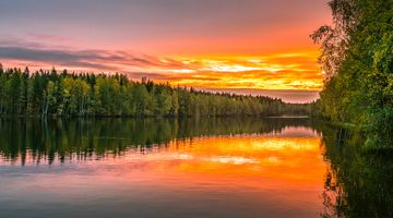 The amber sunset Finland · free photo