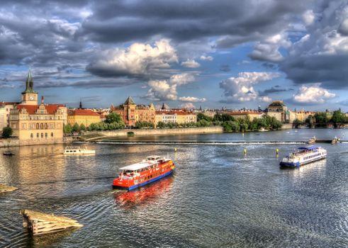 Корабли в Праге · бесплатное фото
