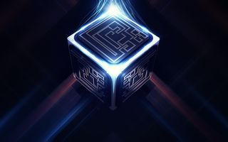 Фото бесплатно цепи, куб, шаблон