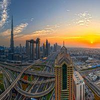 Фото бесплатно Дубай, закат, город