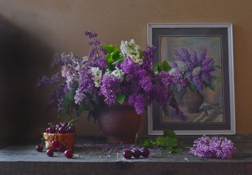 Photo free background, vase, lilac