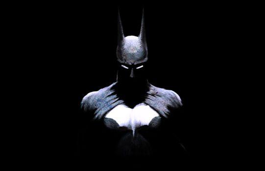 Бэтмен на черном фоне