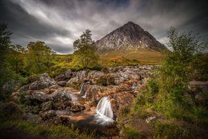 Фото бесплатно Буахале Этив Мор, Шотландия, водопад