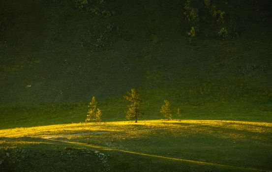 Закат в Тажеранских степях