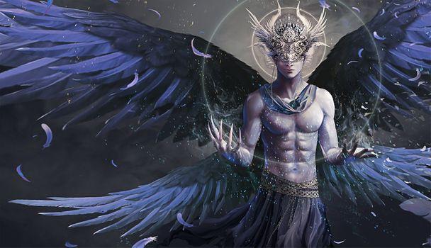 Фото бесплатно ангел, Синий, мальчик
