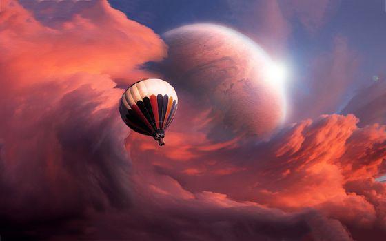 Заставки полет, воздушный шар, фантазия