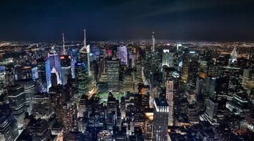 Заставки Midtown Manhattan at night, New York, город
