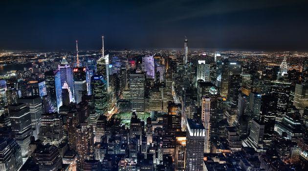 Photo free Midtown Manhattan at night, New York, city