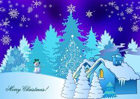Фото бесплатно новогодняя открытка, Рождество, фон