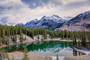 Фото бесплатно Bow River Valley, Banff National Park, горы