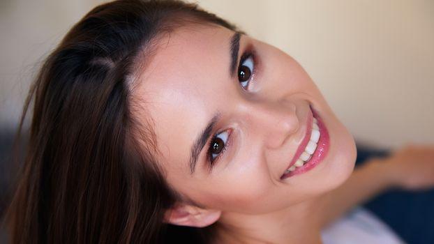 Photo free face, cute face, brunette