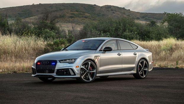 Фото бесплатно Audi, тюнинг, серебристая