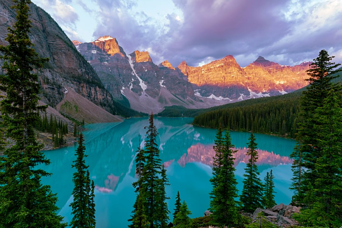 Photos for free mountains, Canada, Canada Lake moraine - to the desktop