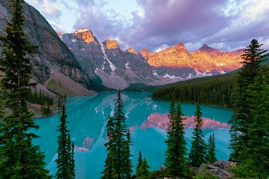 Photo free mountains, Canada, Canada Lake moraine