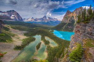 Фото бесплатно пруд, горы, канада