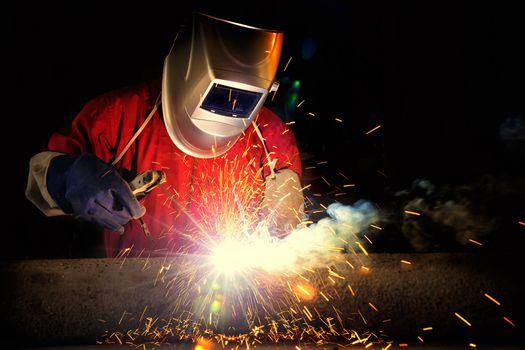 Photo free welder mask, electrode, welding