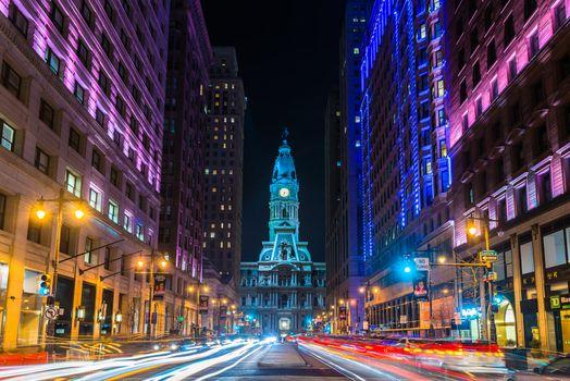 Фото бесплатно Филадельфия, Широкая улица, ратуша
