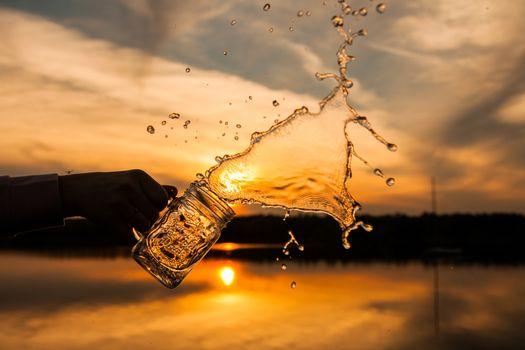 Photo free the splash of water, hand, spray