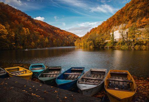 Заставки лодки, озеро, фотография