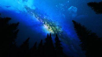 Заставки земля, галактика, пейзаж