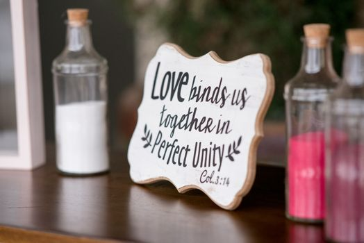 Photo free love inscription, quote, decoration