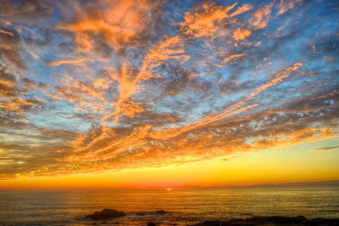 Красивые морские закаты · бесплатное фото