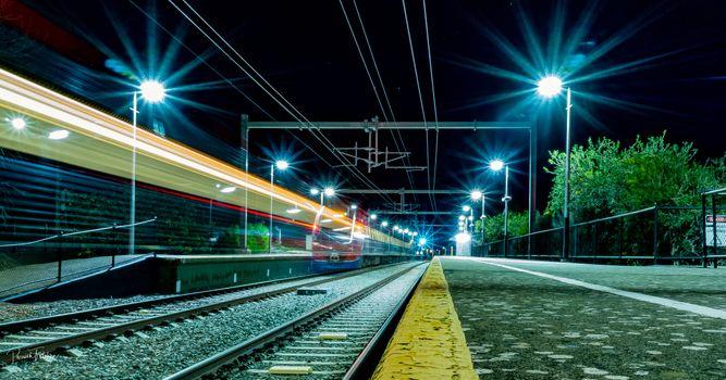Photo free station, train, railroad