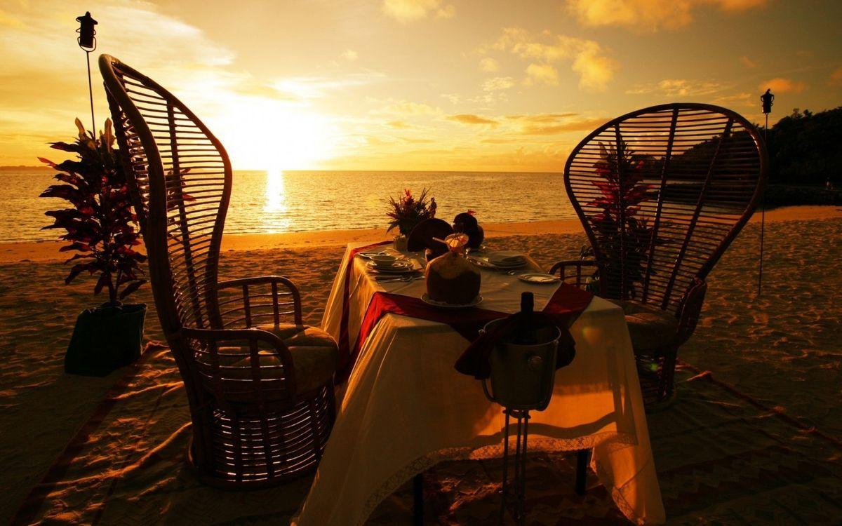 Romantic sunset · бесплатная заставка