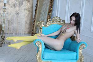Бесплатные фото Blue Star,красотка,голая,голая девушка,обнаженная девушка,позы,поза