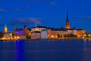 Photo free city, Gamla Stan, night