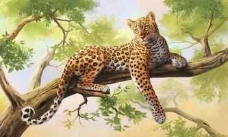 Бесплатные фото Leopard portrait,леопард,хищник,дерево,art,животное,семейства кошачьих