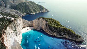 Бесплатные фото Navagio bay,Shipwreck beach,Zakynthos island,Greece