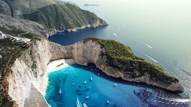 Фото бесплатно Греция, Закинф остров, залив Navagio