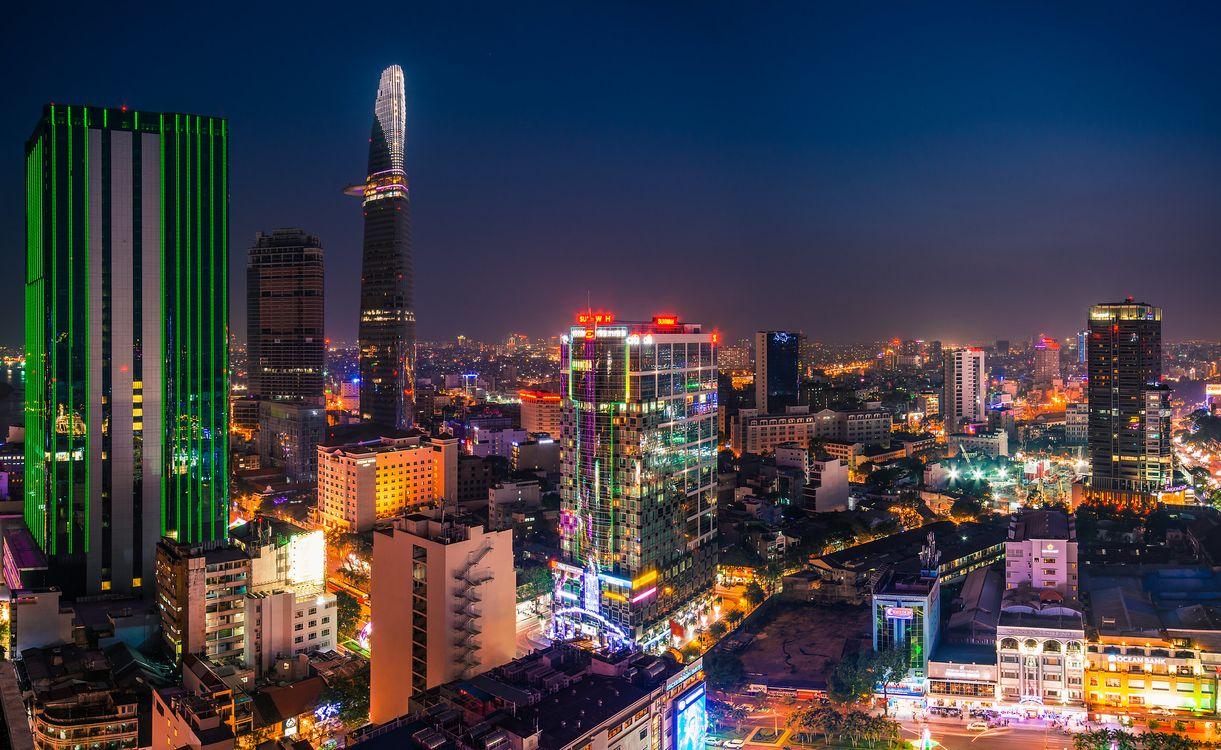 Фото бесплатно ночь, город, вьетнам - на рабочий стол