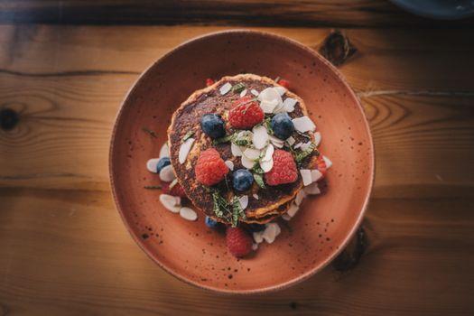 Бесплатные фото еда,блины,завтрак,ягоды