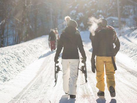 Заставки дорожка, гулять пешком, снег