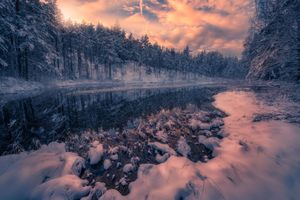 Заставки Ringerike, Norway, закат