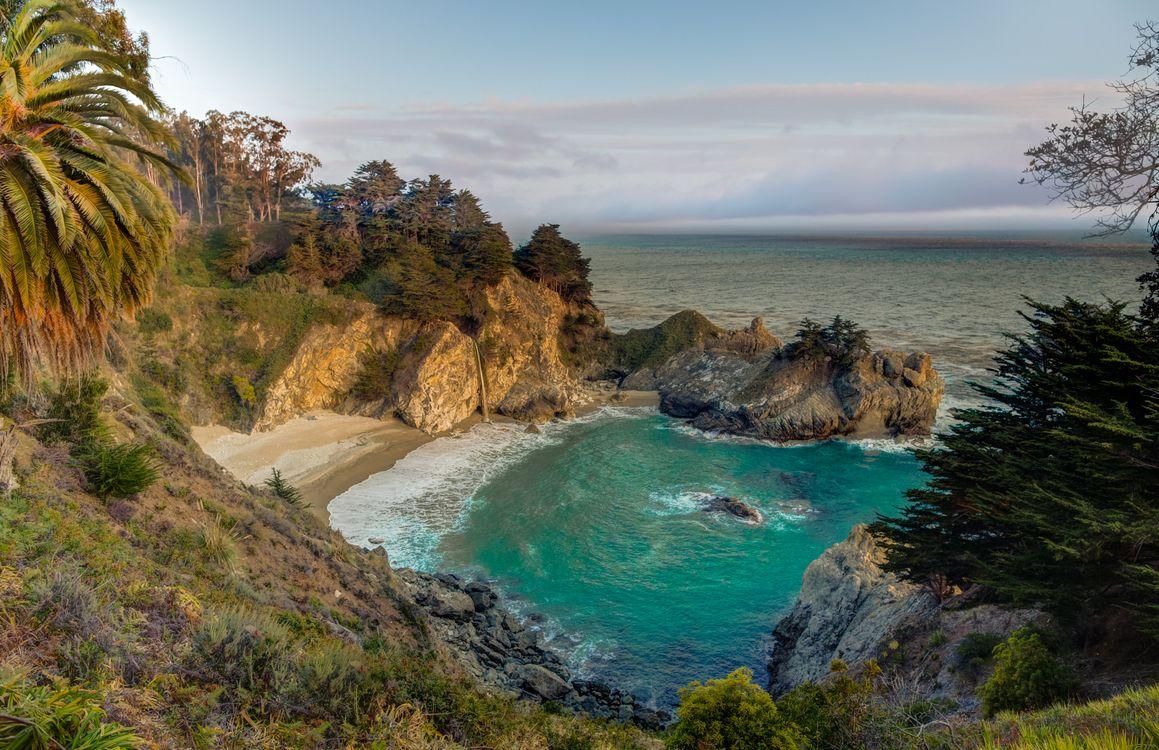 Пляж в Калифорнии · бесплатное фото