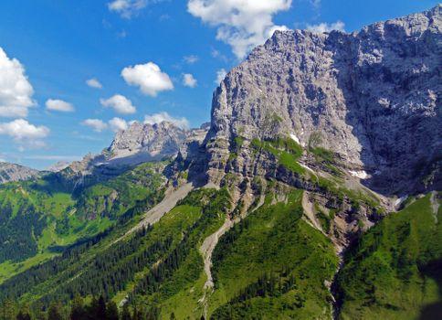 Photo free alp, trees, mountains