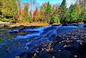 Заставки осень, река, водопад