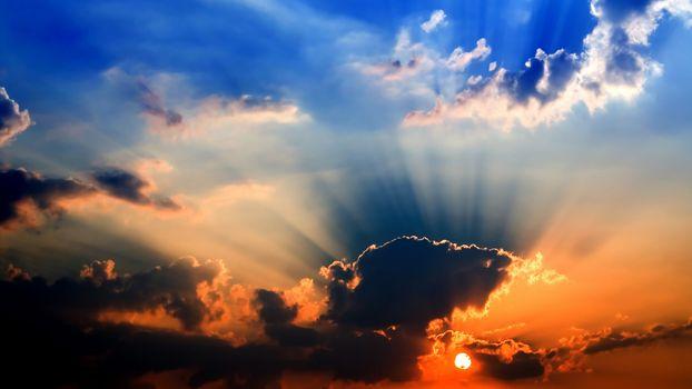Фото бесплатно небо, пейзажи, солнечные лучи