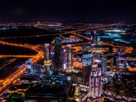 Фото бесплатно город, здания, городской, небоскреб, ночь, фото, вид, удивительный, большой город, Дубай