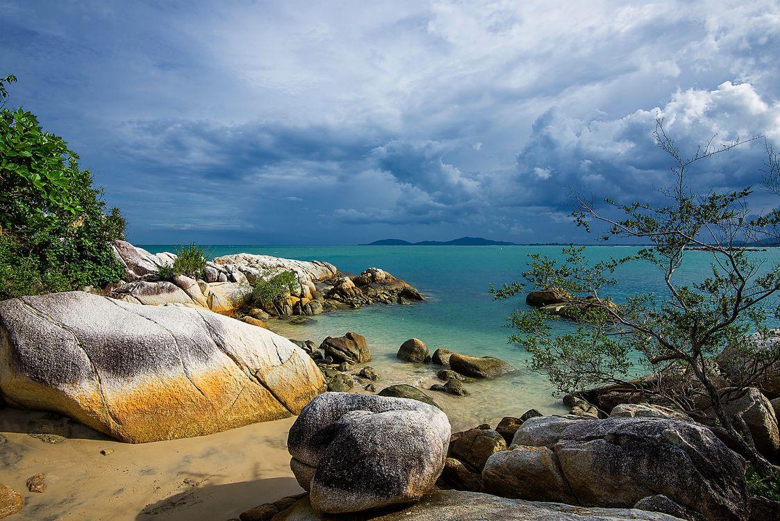 Фото бесплатно море, остров, закат - на рабочий стол