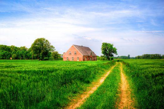 Фото бесплатно Нидеррейн, Германия, маленькая ферма